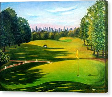 Golf Course At Forest Park Canvas Print