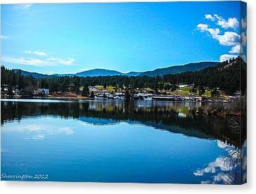Canvas Print featuring the photograph Golf Course by Shannon Harrington