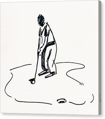 U.s.open Canvas Print - Golf Iv by Winifred Kumpf