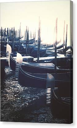 gondolas - Venezia Canvas Print by Joana Kruse