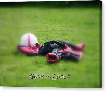Gone To Lunch Canvas Print by Mandy Jayne