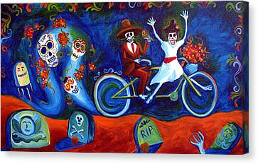 Canvas Print - Gone With The Wind Day Of The Dead by Janet Oh