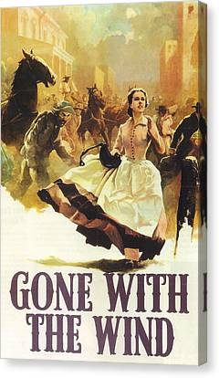 Gone With The Wind Canvas Print by Georgia Fowler
