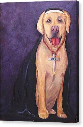 Canvas Print featuring the painting Good Habit Rex by Carol Berning