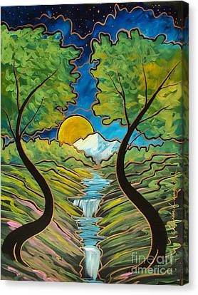 Canvas Print featuring the painting Good Morning Earth by Steven Lebron Langston