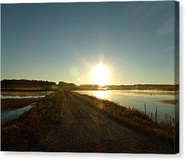 Good Morning Sunrise Road  Canvas Print by Brian  Maloney