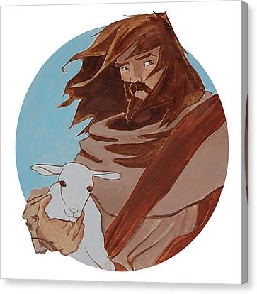 Good Shepherd 2 Canvas Print by Miguel De Angel