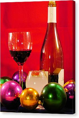 Alchol Canvas Print - Good Wine Good Times by Anthony Walker Sr