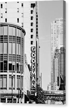 Goodman Theatre Center Chicago Canvas Print by Christine Till