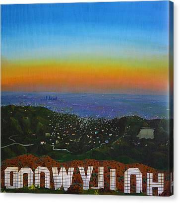 Goodnight Hollywood Canvas Print by Jennifer Lynch