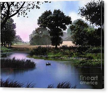 Geese Canvas Print - Goose Pond by Robert Foster