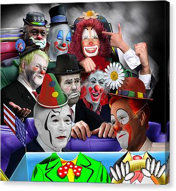 Gop - The Greatest Show On Earth Canvas Print by Reggie Duffie