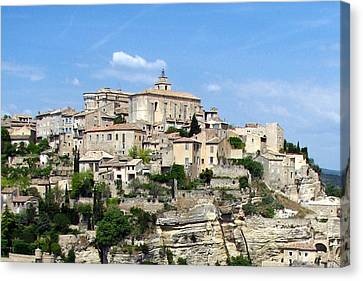 Canvas Print featuring the photograph Gordes In Provence by Carla Parris