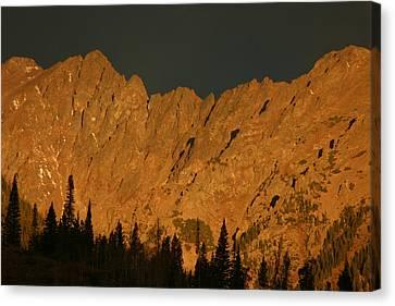 Gore Range Alpenglow Canvas Print by Bob Berwyn