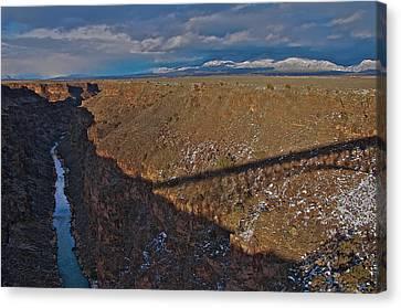 Canvas Print featuring the photograph Gorge Bridge Shadow by Britt Runyon