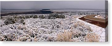 Canvas Print featuring the photograph Gorge Snow by Britt Runyon