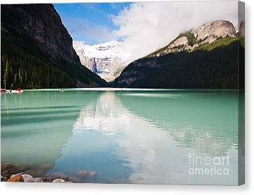 Canvas Print featuring the photograph Gorgeous Lake Louise by Cheryl Baxter