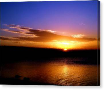 Gorgeous Sunset  Canvas Print by Karen Scovill