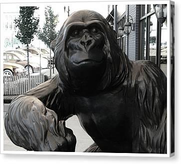 Gorilla On So Bend Street Canvas Print