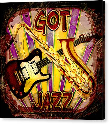 Got Jazz Abstract Canvas Print by David G Paul