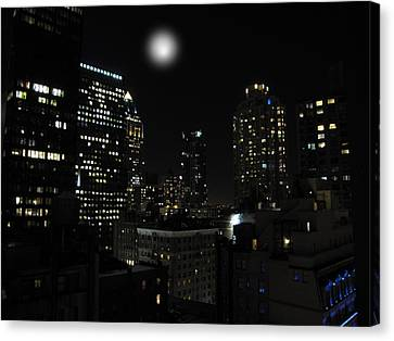 Canvas Print featuring the photograph Gotham City by David Dehner