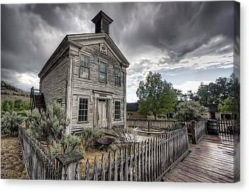 Gothic Masonic Temple 2 - Bannack Ghost Town Canvas Print by Daniel Hagerman