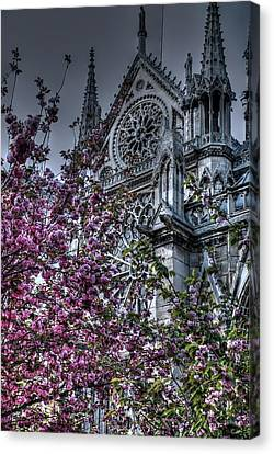 Canvas Print featuring the photograph Gothic Paris by Jennifer Ancker