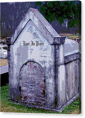 Gothic Rest In Peace Canvas Print by Marian Hebert