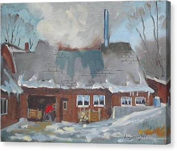 Gould's Sugar House Canvas Print by Len Stomski