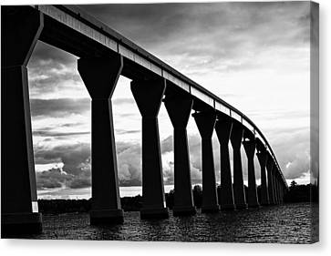 Canvas Print featuring the photograph Gov. Thomas Johnson Bridge by Kelly Reber