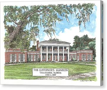 Governors Mansion Tallahassee Florida Canvas Print