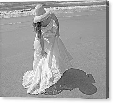 Coastal Places Canvas Print - Gown Gathering by Betsy Knapp