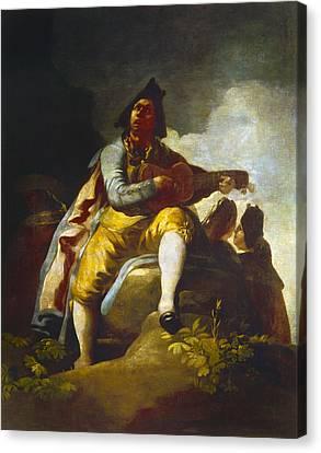 Goya: Guitarist Canvas Print by Granger