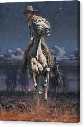 Art Of Mia Delode Canvas Print - Grab The Fast Horse by Mia DeLode
