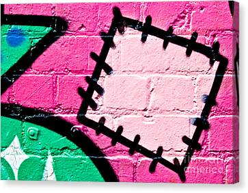 Graffiti Patch Closeup Canvas Print