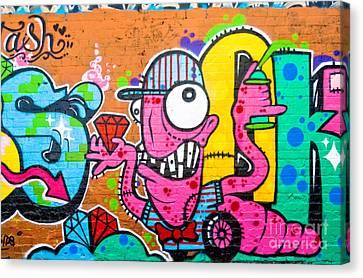 Graffiti Spray-worm Canvas Print by Yurix Sardinelly