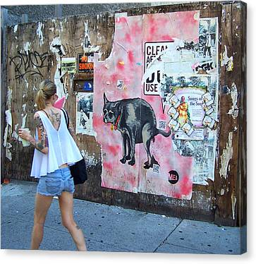 East Village Canvas Print - Graffiti by Steven Huszar