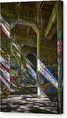 Canvas Print featuring the photograph Graffiti Underground by Vicki DeVico