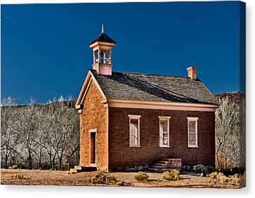 Grafton Schoolhouse Canvas Print by Christopher Holmes
