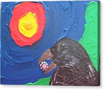 Gramma's Button Canvas Print