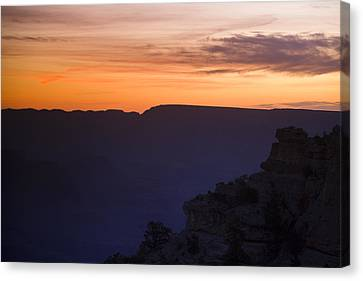 Grand Canyon Bathed In Blue Canvas Print