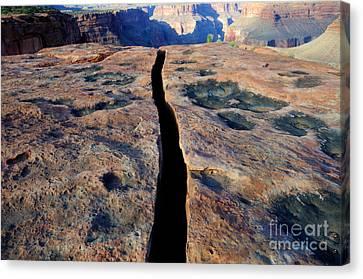 Grand Canyon Dividing Line Canvas Print by Bob Christopher