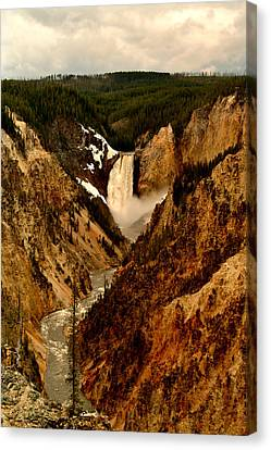 Grand Canyon Of The Yellowstone Canvas Print by Ellen Heaverlo