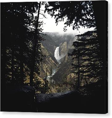 Canvas Print featuring the photograph Grand Canyon Of The Yellowstone  by J L Woody Wooden