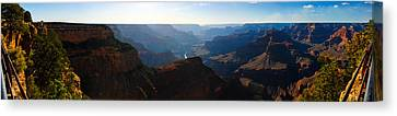 Grand Canyon Sunset Panorama Canvas Print by David Waldo