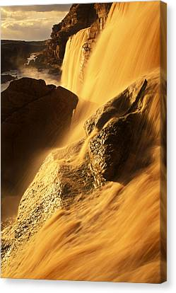 Grand Falls Of The Little Colorado Canvas Print by Ralph Lee Hopkins