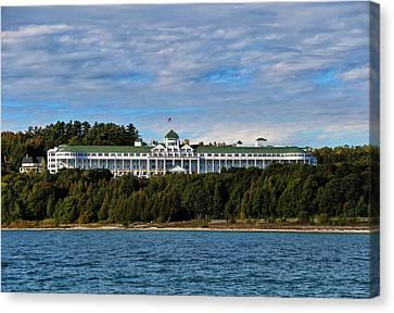 Island Stays Canvas Print - Grand Hotel by Rachel Cohen