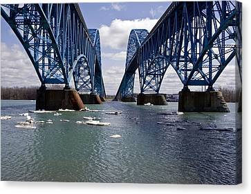 Canvas Print featuring the photograph Grand Island Bridges by Darleen Stry