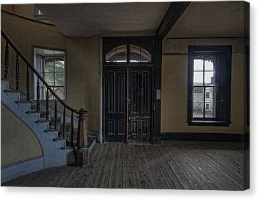 Bannack Montana Canvas Print - Grand Staircase And Entrance To Meade Hotel - Bannack Ghost Town by Daniel Hagerman