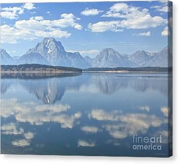 Grand Teton National Park Mountain Lake Reflctions Canvas Print